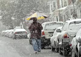 snow street scene