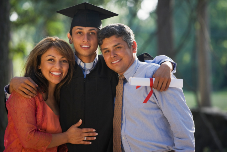 college grad with parents