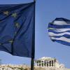 greek EU flags