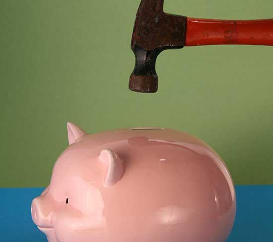 piggy bank hammer