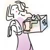 woman chores cartoon free pixabay