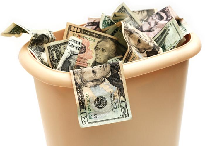 money throw away