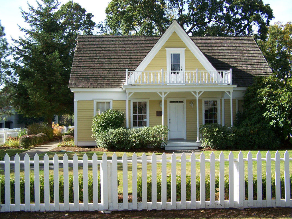 house picket fence