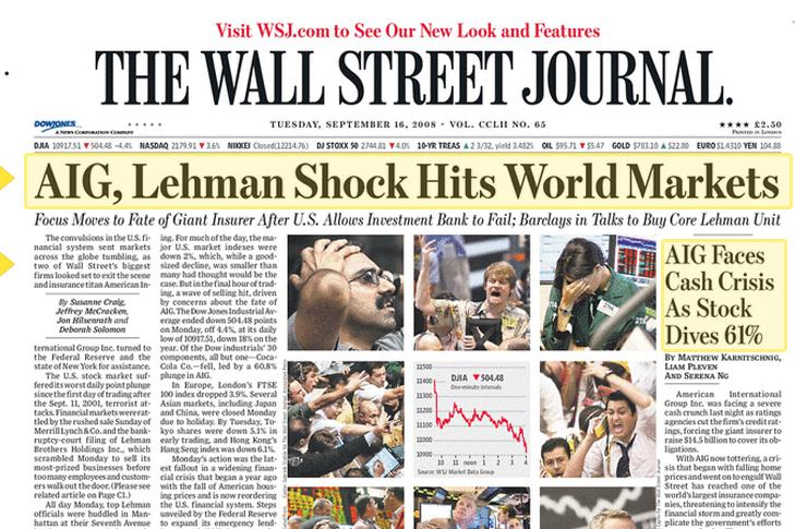 WSJ-Lehman headlines