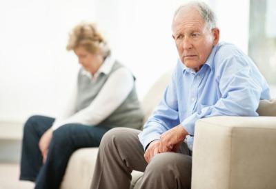 couple older sad