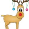 reindeer with decor